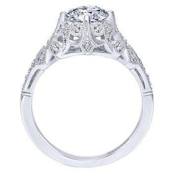 1/5ct tw Diamond Engagement Ring Setting in Platinum