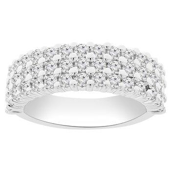 1 1/3ct tw NewBorn Lab Created Diamond Fashion Ring in 14K White Gold