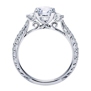 1 1/3ct tw Diamond Three Stone Engagement Ring in 14K White Gold