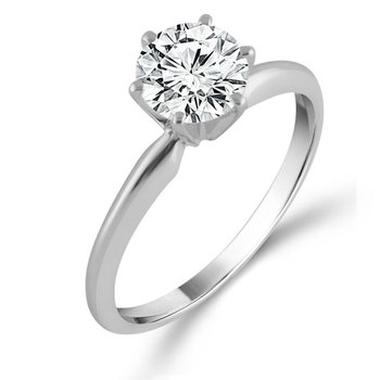 2ct tw Diamond Solitaire Engagement Ring in 14K White Gold