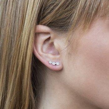 1/3ct tw Diamond Halo Stud Earrings in 14K White Gold