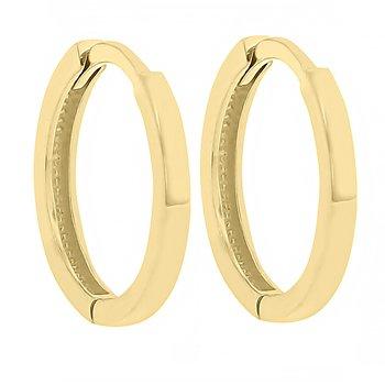 14.25mm Huggie Hoop Earrings in 14K Yellow Gold