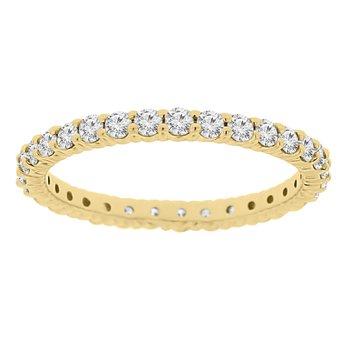 3/4ct tw Diamond Eternity Ring in 14K Yellow Gold
