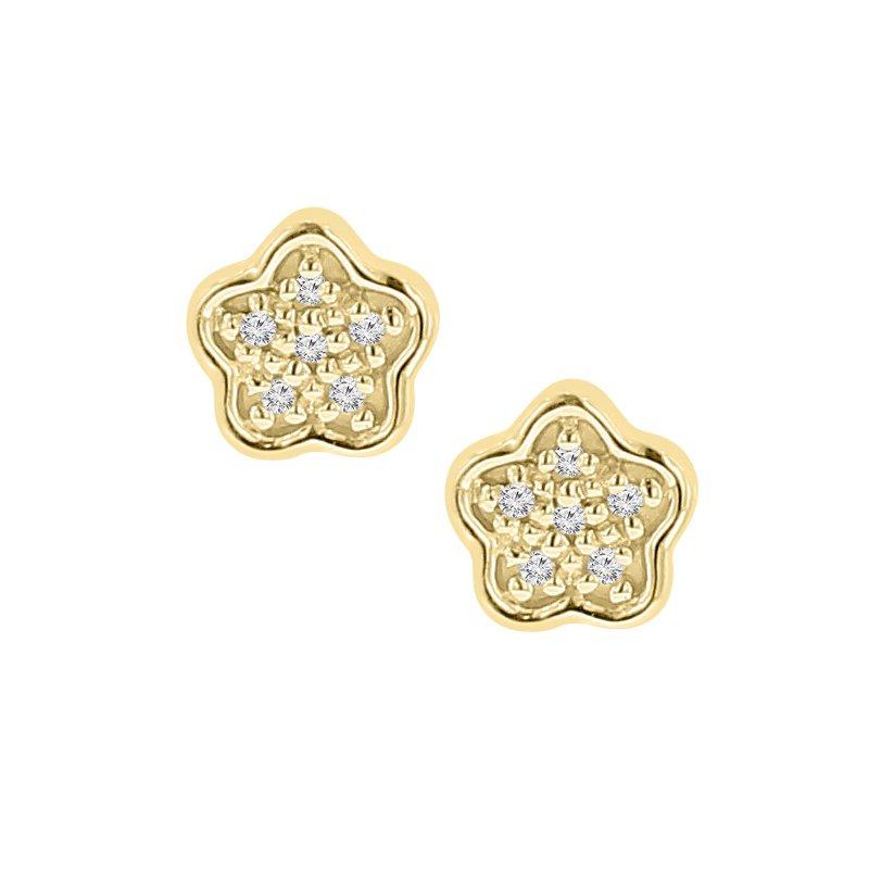 .05ct tw Diamond Fashion Stud Earrings in 10K Yellow Gold