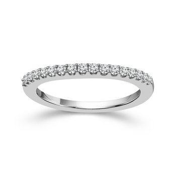 1/8ct tw Diamond Wedding Ring in 14K White Gold