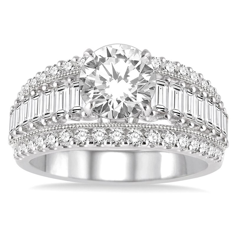 1 1/3ct tw Diamond Engagement Ring Setting in 14K White Gold