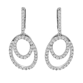 1 1/3ct tw NewBorn Lab Created Diamond Fashion Earrings in 14K White Gold