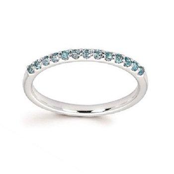 December Birthstone Ring in 14K White Gold
