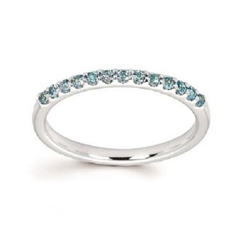 December Birthstone Ring in 14K White Gold
