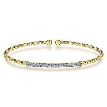 1/3ct tw Diamond Bujukan Bangle Bracelet in 14K Yellow Gold