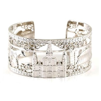 .04ct tw Diamond 7 Inch NOLA Cuff Bracelet in Sterling Silver