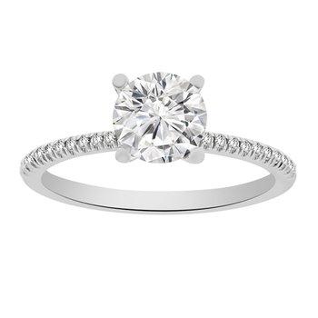 1/10ct tw Diamond Engagement Ring Setting in Platinum
