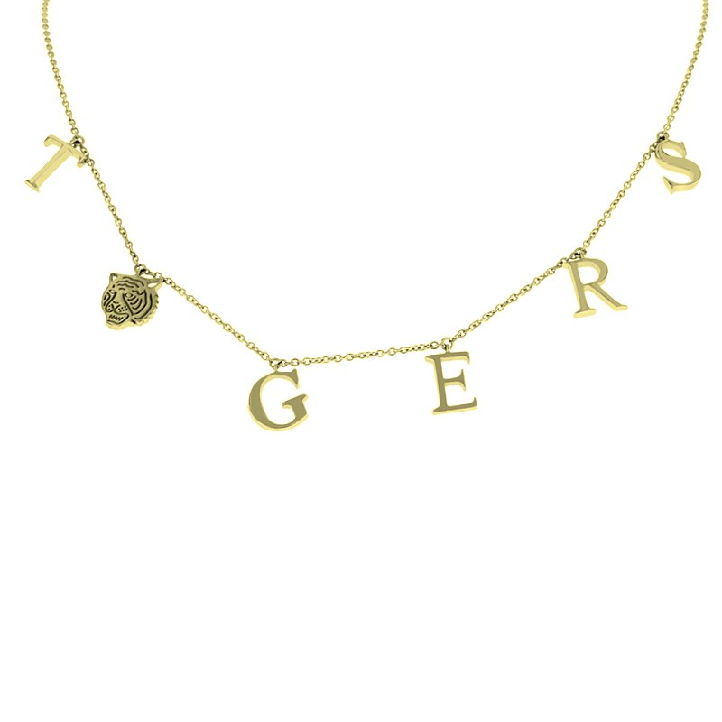 Tiger Necklace in 10K Yellow Gold