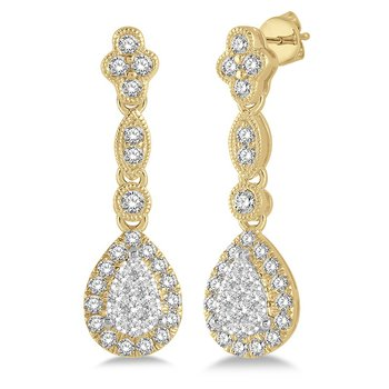 5/8ct tw Diamond Thousand Points of Light Earrings in 14K White & Yellow Gold