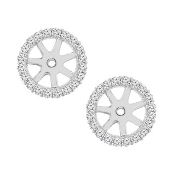3/8ct tw NewBorn Lab Created Diamond Earring Jackets in 14K White Gold