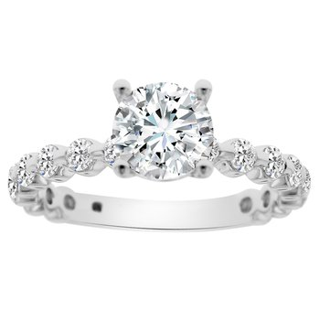 3/4ct tw Diamond Engagement Ring in 14K White Gold