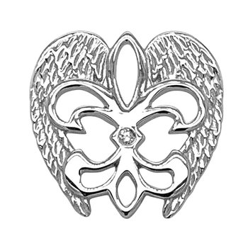 .01ct tw Diamond Rise Up Nola Collection Pin in Sterling Silver