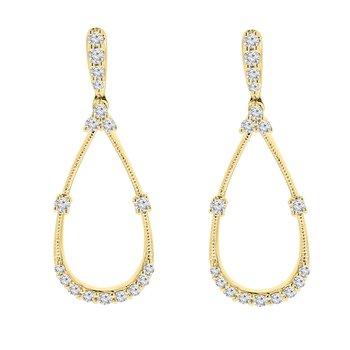1/4ct tw Diamond Fashion Earrings in 14K Yellow Gold