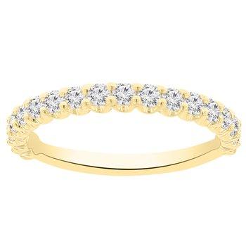 5/8ct tw NewBorn Lab Created Diamond Wedding Ring in 14K Yellow Gold