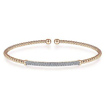 1/3ct tw Diamond Bujukan Bangle Bracelet in 14K Rose Gold