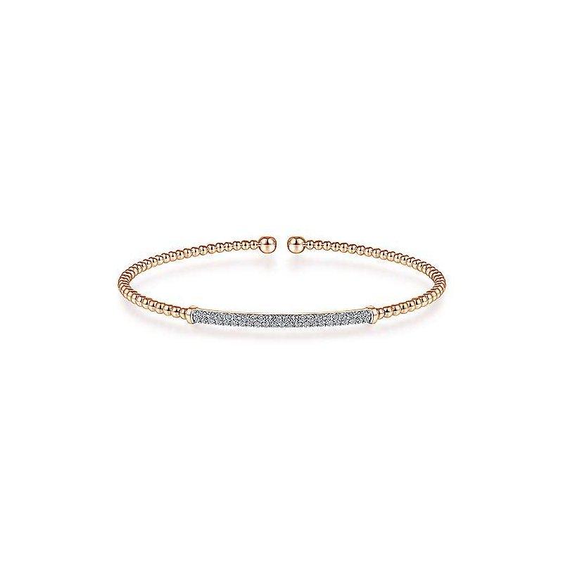 1/3ct tw Diamond Bujukan Bangle Bracelet in 14K Rose Gold