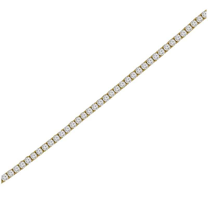 1 1/2ct tw NewBorn Lab Created Diamond Tennis Bracelet in 14K Yellow Gold