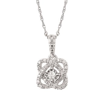 1/10ct tw Diamond Fashion Necklace in Sterling Silver