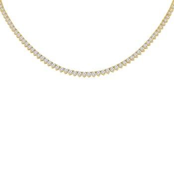 9ct tw NewBorn Lab Created Diamond Tennis Necklace in 14K Yellow Gold