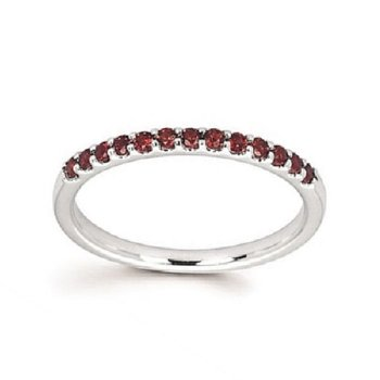 January Birthstone Ring in 14K White Gold