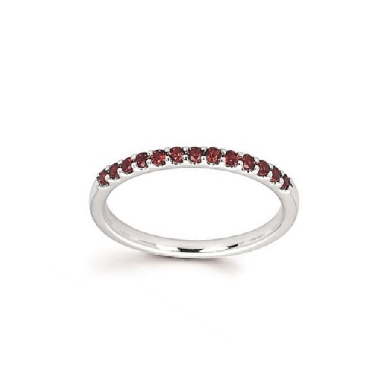 January Birthstone Ring in 14K White Gold