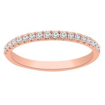 1/4ct tw Diamond Wedding Ring in 14K Rose Gold