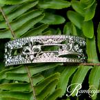 .02ct tw Diamond 7 Inch NOLA 20mm Cuff Bracelet in Sterling Silver