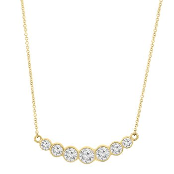 3/4ct tw Diamond Bar Necklace in 14K Yellow Gold