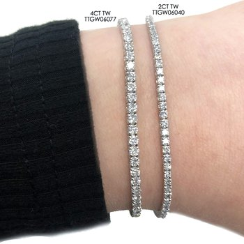 4ct tw NewBorn Lab Created Diamond Tennis Bracelet in 14K White Gold