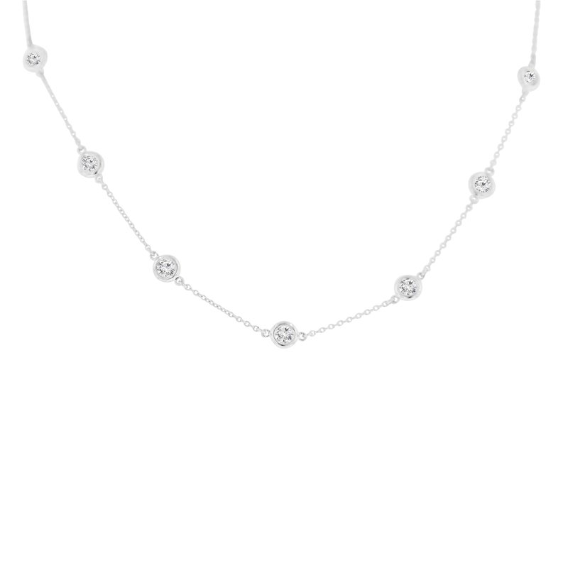 1 1/8ct tw NewBorn Lab Created Diamonds by the Yard Necklace in 14K White Gold