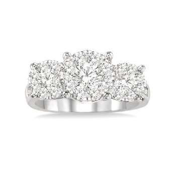 1 1/2ct tw Diamond Thousand Points of Light Engagement Ring in 14K White Gold