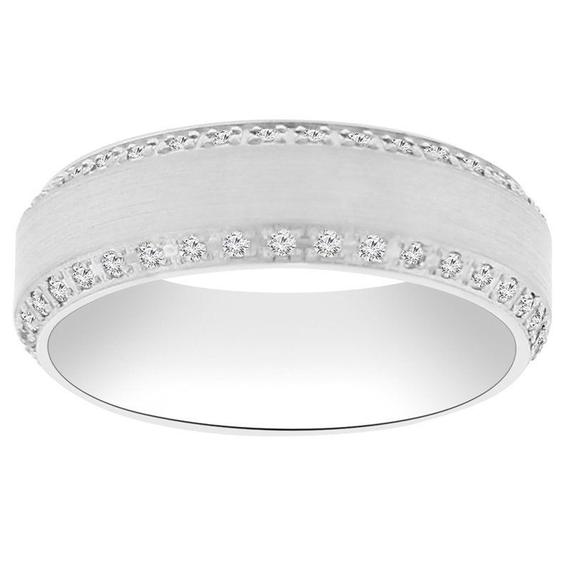 7/8ct tw Diamond Wedding Ring in 14K White Gold