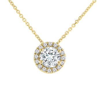 1ct tw NewBorn Lab Created Diamond Simply Love Collection Necklace in 14K Yellow Gold