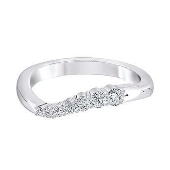 1/4ct tw Diamond Journey Ring in 14K White Gold