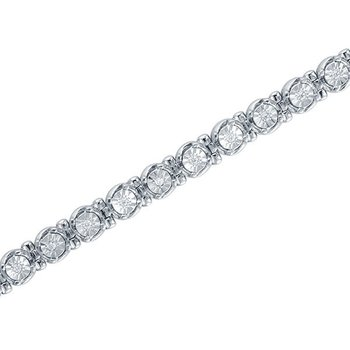 1/2ct tw Diamond Tennis Bracelet in Sterling Silver