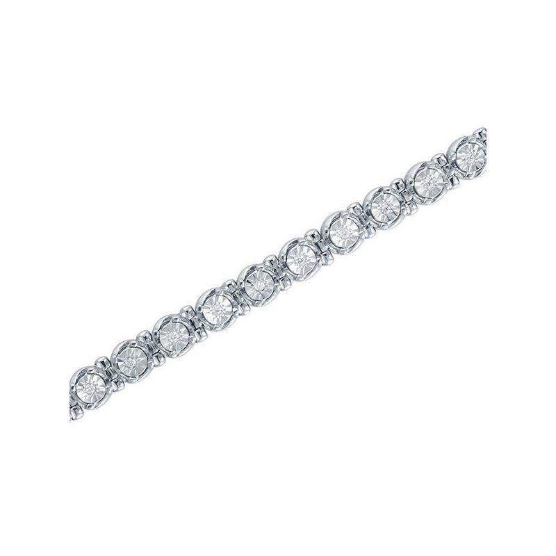 1/2ct tw Diamond Tennis Bracelet in Sterling Silver