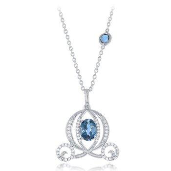 1/2ct tw Diamond Cinderella Necklace in 14K White Gold