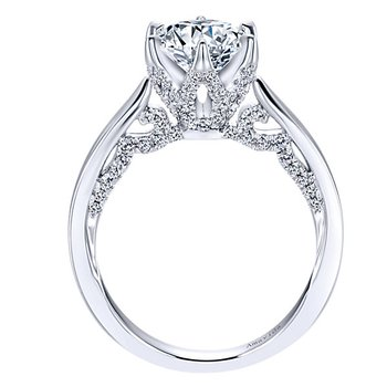 1 5/8ct tw Diamond Engagement Ring in 18K White Gold