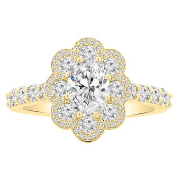 7/8ct tw Diamond Engagement Ring Setting in 14K Yellow Gold