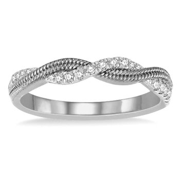 1/8ct tw Diamond Together Forever Ring in 14K White Gold