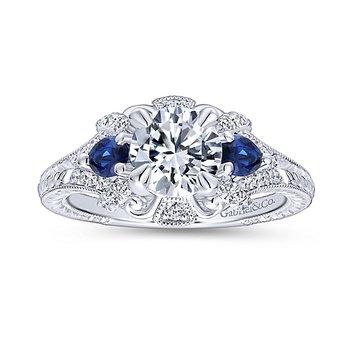 1 1/4ct tw Diamond Three Stone Engagement Ring in 14K White Gold