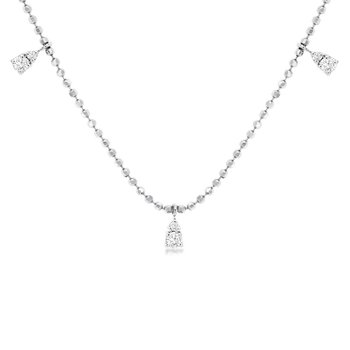 1/3ct tw Diamond Fashion Necklace in 14K White Gold