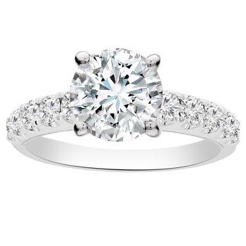 5/8ct tw Diamond Engagement Ring Setting in 18K White Gold