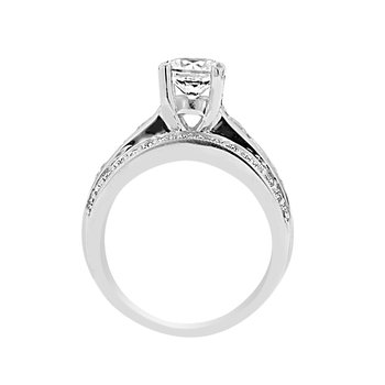 1 1/2ct tw Diamond Engagement Ring Setting in 14K White gold