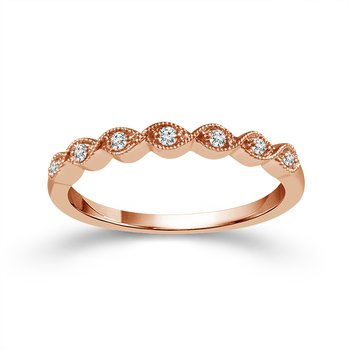.05ct tw Diamond Stackable Ring in 10K Rose Gold